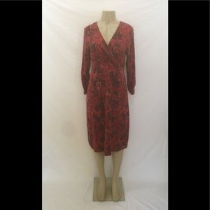 J.Jill Size Medium Multicolor Paisley Print Dress